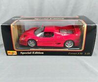 MAISTO 1995 FERRARI F50 SPECIAL EDITION RED 1:18 DIECAST CAR CLASSIC COLLECTION