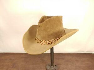 RESISTOL Cowboy Western self-conforming tan hat 7 1/8