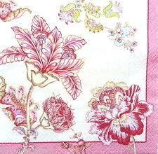 20 tabla de papel vintage Servilletas almuerzo, Para Fiesta, Decoupage, Craft, flores bellas