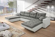 Couchgarnitur MARLA U-Form Couch Sofalandschaft Schlaffunktion Bettkasten Sofa
