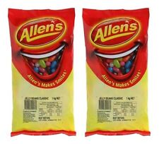 Bulk Lollies 2kg x Allens Jelly Beans Candy Buffet Halloween Party Favors Sweet