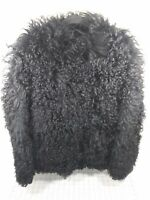 Vintage Edward Stuart Fur Jacket Black Size 10