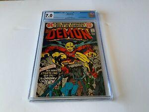 DEMON 1 CGC 7.0 ORIGIN AND 1ST APPEARANCE ETRIGAN DC COMICS 1972