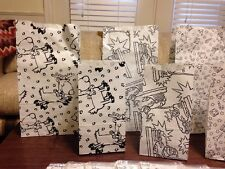 10 Packs CHRISTMAS Holiday Party Favor PAPER Bags/Sacks 3 Big 3 Small  Each Pac