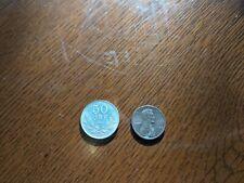 1931 G Sweden 50 ore  AU Silver