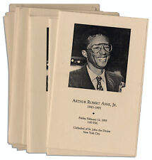 Lot of Programs From Arthur Ashe Funeral. From Estate.