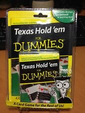 NEW Texas Hold'em for Dummies Cards with 48 page Guidebook & Teaching Deck