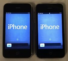 Lot of 2 Apple iPhone 3GS Cell Cellular Phone - A1303 - 16GB - Black AT&T - Work