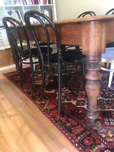 Rustic Vintage Wooden Dining Table Desk (H)76cm X (W)106cm X (L)160cm