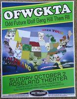 OFWGKTA Odd Future 2011 POSTER Gig Portland Oregon Tyler The Creator Concert