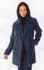 NEW JESSICA LONDON WOMENS WOOL-BLEND PEA COAT - SIZE: 22  COLOR: NAVY