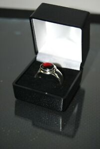 925 Silver Oval Cherry Amber Dress Ring