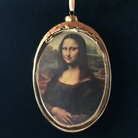 Mona Lisa Porcelain Plaque / Christmas Ornament by Kurt Adler & Museum Masters