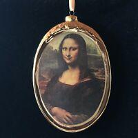 Mona Lisa Porcelain Plaque / Christmas Ornament by Kurt Adler & Museum Masters
