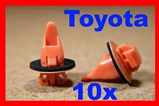 10 TOYOTA land cruiser wheel arch panel cover sill mud guard fastener clips