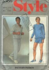 UNCUT Retro Sewing Pattern Mens Hoodie Sweatshirt shorts pants  Size medium