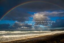 beautiful inspirational RAINBOW motivational poster BIBLICAL QUOTE 24X36