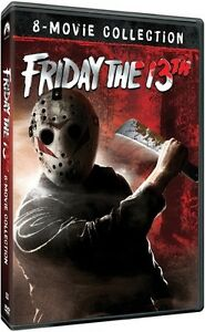 FRIDAY THE 13TH - 8 MOVIE COLLECTION 8 DISC BOXSET DVD REGION 1 NEW & SEALED!