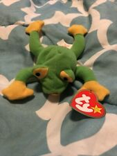 Ty Beanie Baby Smoochy The Frog Retired 1997 Vintage rare errors Collectible