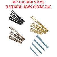 Extra Long Socket Plug Electrical Screws M3.5x40 M3.5x50 M3.5x75 in 10s 20s 50s