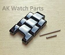 3 Black Ceramic Link passt Emporio Armani AR1400/AR1410/AR1414/AR1406 Ersatz Riemen