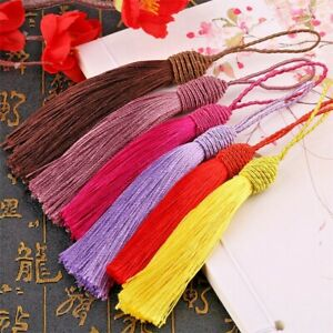 Silk tassel 15cm with loop  for fashion accessories, sewing etc (UK SELLER)