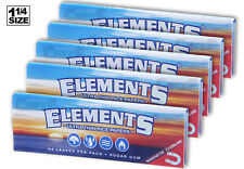 AUTHENTIC ELEMENTS (5PK) BUNDLE Rice Papers 1-1/4 (1.25) Size Rolling Papers