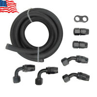 Braided Fuel Line 5/8 10ft AN10 Oil/Gas/Fuel Hose End Fitting Separator Clamp