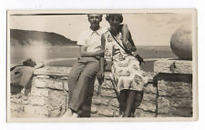 PHOTO Pochette en cuir Appareil Caméra Étui Couple Photographié Plage Bras Love