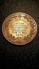 1871 Silver Germany Bremen (city) victory Thaler beautiful toned