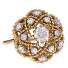 Estate 18k Yellow Gold 1ct VS1/F Diamond Cocktail Ring See Video Sz 8  6.4g G-38