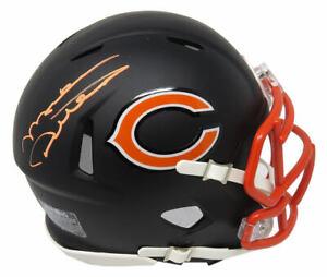 MIKE DITKA Signed Chicago Bears Flat Black Matte Riddell Speed Mini Helmet - SS