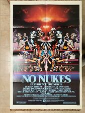 Original No Nukes 1980 Movie House Poster *Folded 27x41 Bruce Springsteen