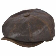 Leather Men's Newsboy Cap Gatsby Hats