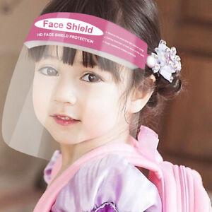 Kids Safety Face Shield Outdoor Dust proof Clear Visor Children School Headwear