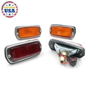 SET SIDE MARKER LAMP L/R FIT NISSAN DATSUN 510 120Y B210 FAIRLADY 240Z TRUCK UTE
