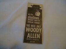 Woody Allen - concert Georgetown Washington DC  - 1965 newsprint ad