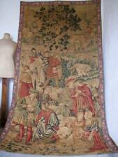 Fabulous French Antique Handpainted Tapestry Wall Art