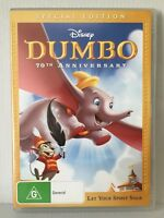 WALT DISNEY ~ DUMBO ~ SPECIAL EDITION ~70th ANNIVERSARY~ REGION 4 PAL DVD