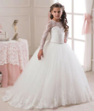 Flower Girl Dress Communion Pageant Princess Baby Lace Party Wedding Bridesmaid