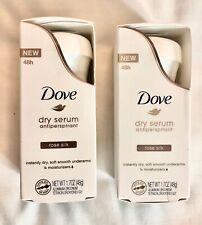 2 DOVE WOMENS DEO DEO Dry Serum Antiperspirant Deodorant, Rose Silk, 1.7 Ounce