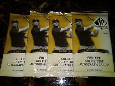 (4) 2014 UD SP Authentic Golf Hobby Packs! Rory Tiger Nicklaus Jordan Auto?!?