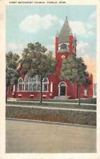 Tupelo Mississippi First Methodist Church Street View Antique Postcard K73376