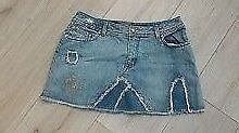 """Womans trendy festival , mini denim skirt from OASIS size 10 ( 30"""" waist )"""