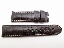 Panerai DARK BROWN Croc Alligator Strap Regular 22mm / 20mm BRAND NEW Tang Buckl