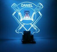 Arizona Wildcats Baseball Stadium LED Night Light Lamp Personalized With Remote