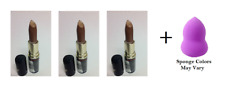 Max Factor Lasting Color Lipstick #1847 Exhilarated (3 Pack) + Makeup Sponge
