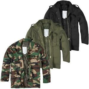 Mens M65 Military Field Jacket Vintage Army Combat Coat Removable Quilted Liner
