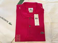 Lacoste Men's Classic Piqué L.12.12 Polo Shirt Mesh $89.50 Bigarreau Cherry 6/L