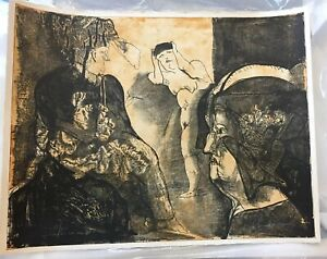 JOSE LUIS CUEVAS Signed Limited Edition TRES PERSONAJES Numbered LITHOGRAPH #58